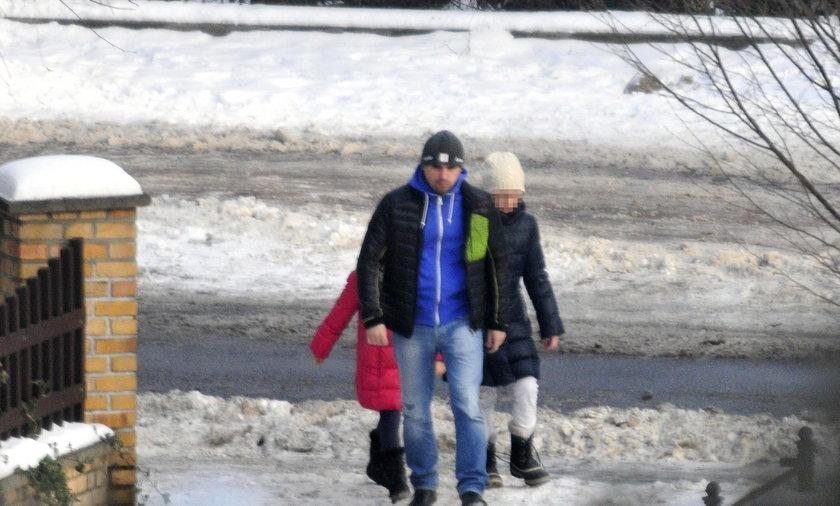 Marcin Dubieniecki z dziećmi