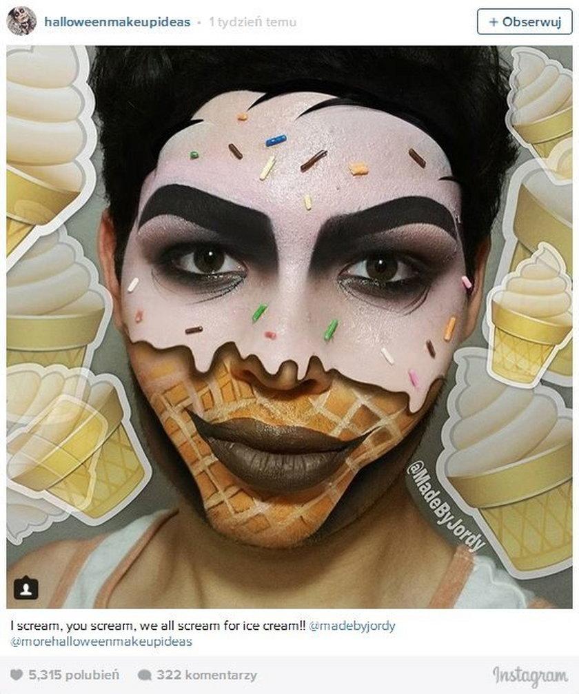 Ekstremalny makijaż na imprezę halloweenową