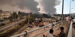 Ogromny pożar w pobliżu Aten. Mieszkańcom zalecono pozostanie w domach