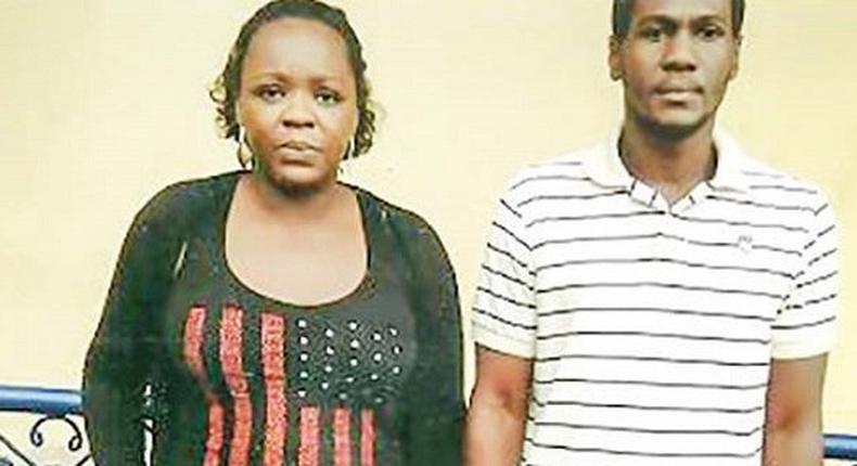 The fraudulent couple, Okechukwu Emeka and Destiny