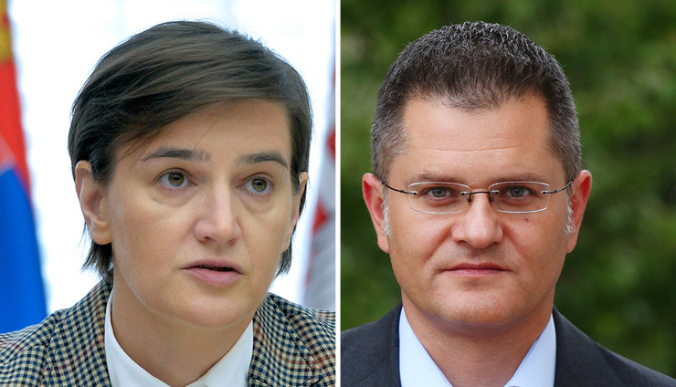 Ana Brnabić, Vuk Jeremić