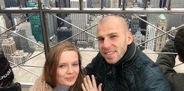 Chudy wziął ślub w Central Parku. Bramkarz spełnił marzenie swojej żony