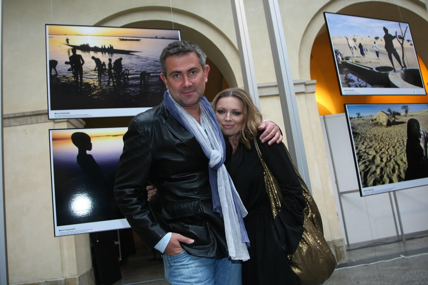 Anna Maria Jopek z mężem