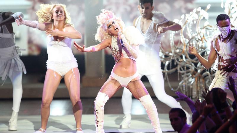 Lady Gaga na gali wręczenia nagród MTV VMA 2009