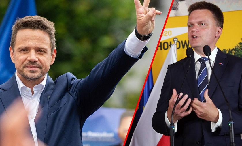 Prezydent Warszawy Rafał Trzaskowski oraz stojący na czele ruchu Polska 2050 Szymon Hołownia zostali uznani za liderów opozycji w Polsce.