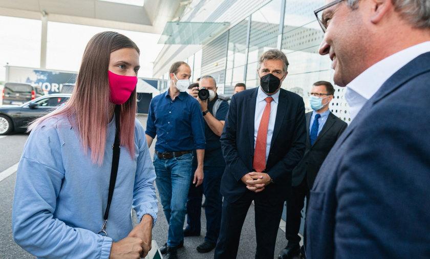 Cimanouska uciekła z Białorusi i poprosiła o azyl w Polsce.