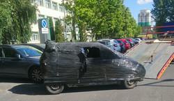 Zafoliowany samochód odholowany i ponad 1000 zł kary. Straż miejska nie miała litości