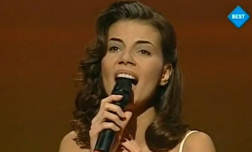 Edyta Górniak podczas występu na Eurowizji w 1994 roku.