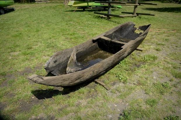 Sredniowieczna łódź w Staniszczach Małych