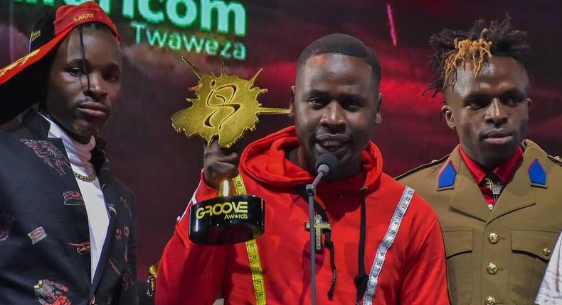Odi Dance Makers Timeless Noel, Jabidii and Hype and Ochi at Groove Awards 2018.