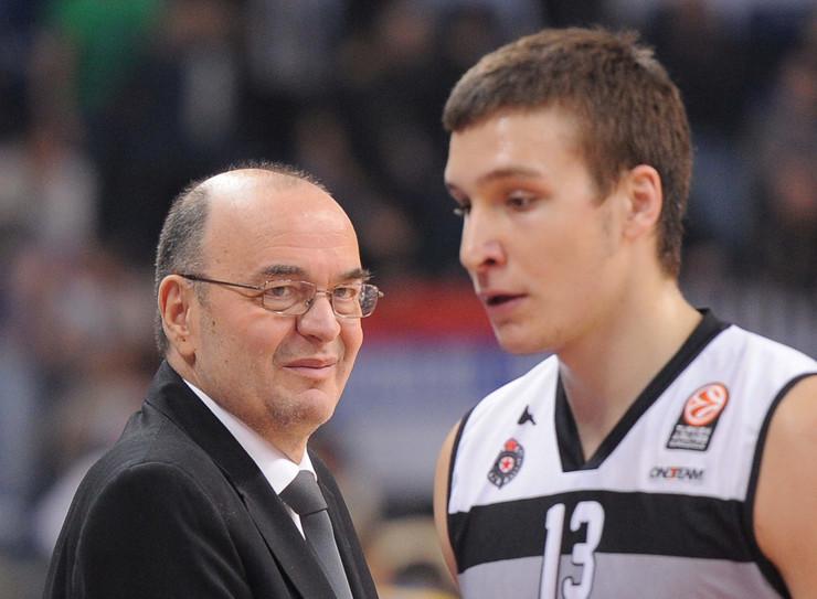 Bogdan Bogdanović i Duško Vujošević u periodu dok su sarađivali u Partizanu