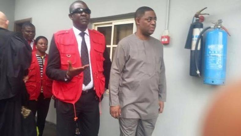 Former aviation minister, Femi Fani-Kayode appears in court on June 28, 2016