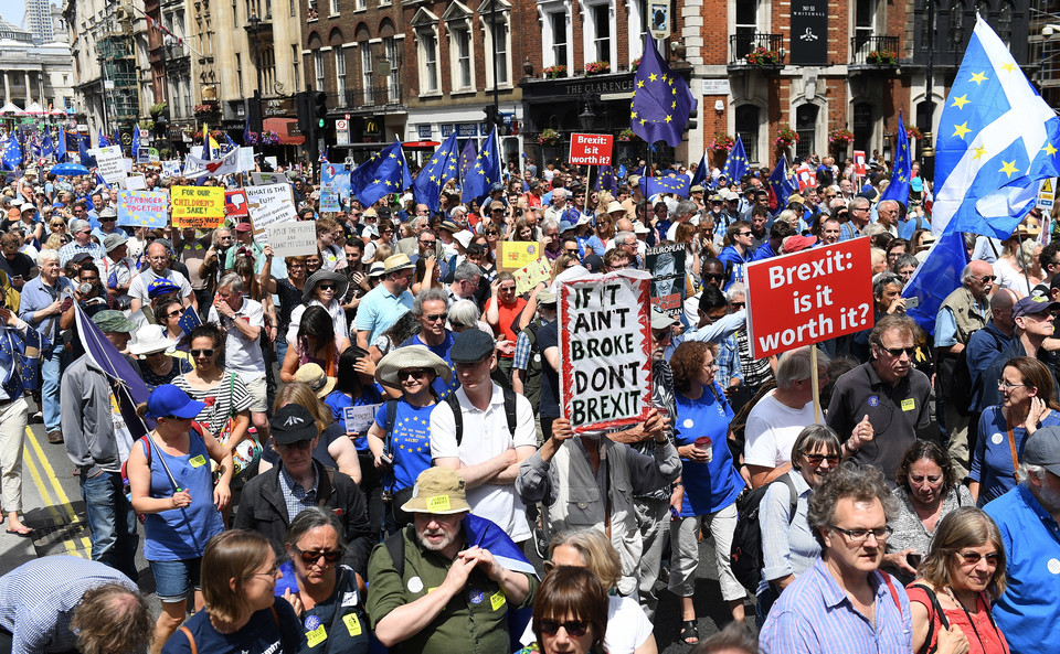 epa06833217 - BRITAIN BREXIT PEOPLE'S MARCH DEMONSTRATION (People's March Against Brexit)