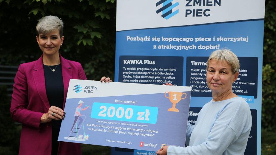 """Laureatka konkursu """"Zmień piec"""""""