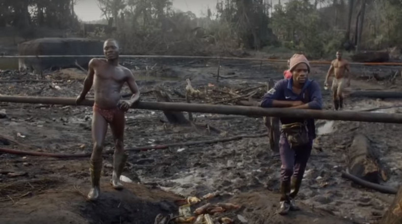Site of an illegal refinery in the creeks of the Niger Delta (Vanguard)