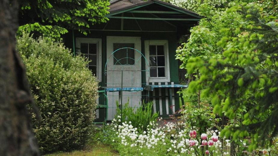 Altana na jednym z ogródków