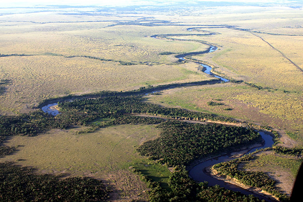 Mara River aerial view. (Precision Measurement Engineering)