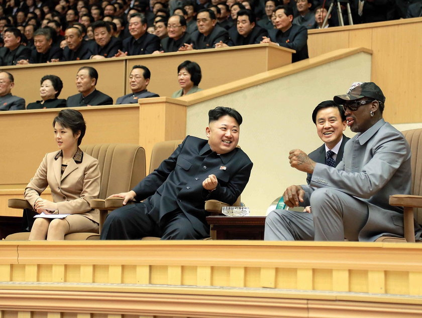 Kim Dzong Un spotyka si? ze swoim koszykarskim idolem