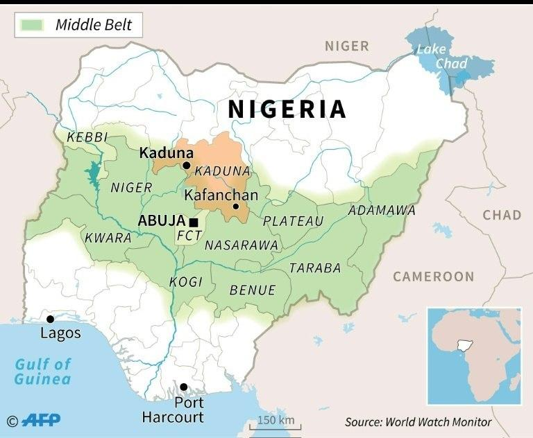Map of Nigeria (Google Maps)