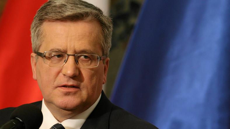 Prezydent Komorowski o ustawie o OFE: Wolałbym, żeby wcześniej pomyślał rząd