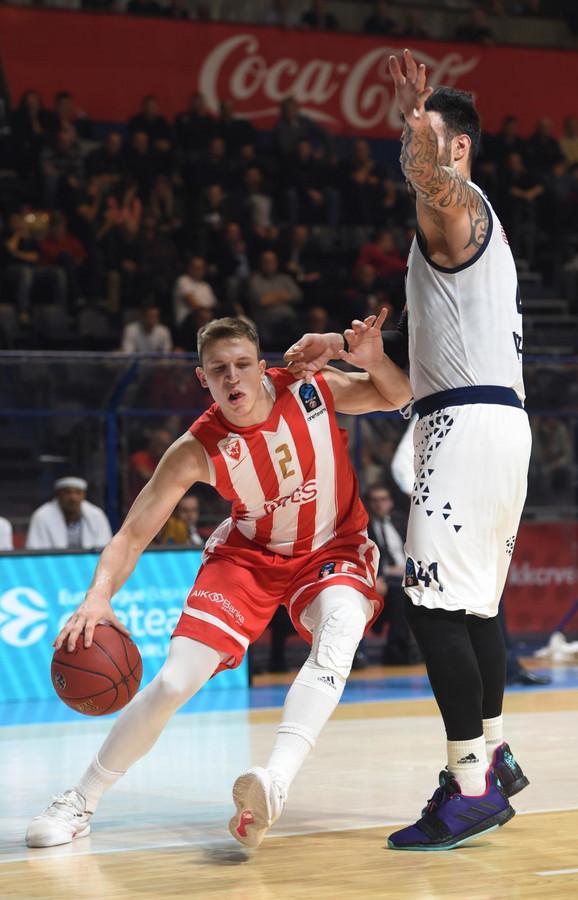 Aleksa Radanov na utakmici sa Brešom