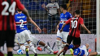 Diaz gets Milan off the mark at Sampdoria