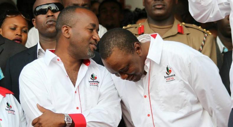 Mombasa Governor Hassan Joho and President Uhuru Kenyatta