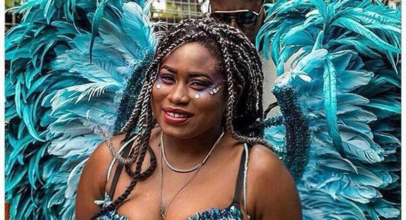 Lydia Forson puts her books on display