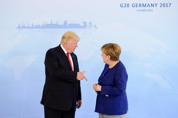 Angela Merkel i Donald Trump