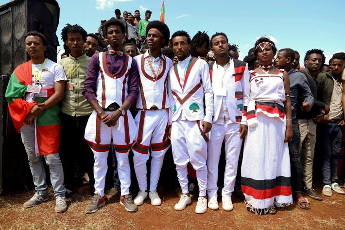 The Wider Image: Ethiopia's new leader relies on support from youth