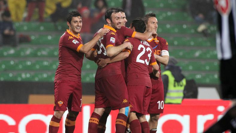 Radość piłkarzy Romy