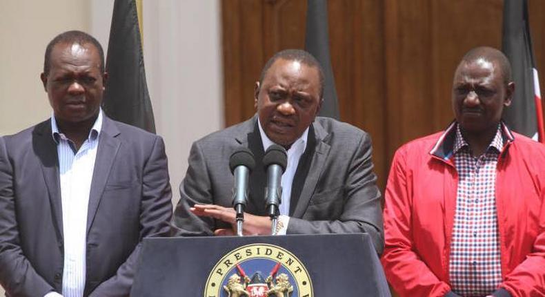 President Uhuru Kenyatta, DP William Ruto & Rapahel Tuju