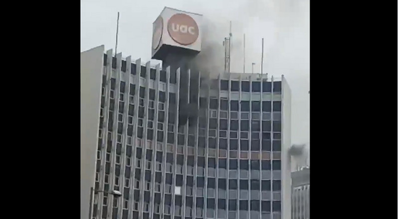 Fire guts UAC building in Lagos