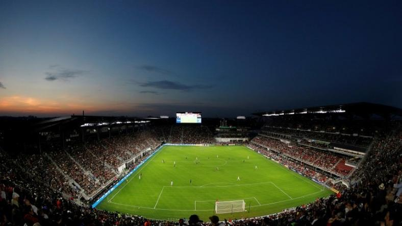 A general view of Audi Field , the home stadium for the DC United, in Washington, DC