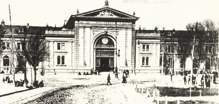 Glavna železnička stanica, razglednica iz 1912.