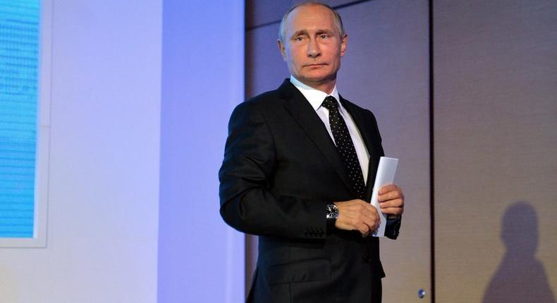 Russian President Putin attends VTB Capital Russia Calling! Investment Forum in Moscow
