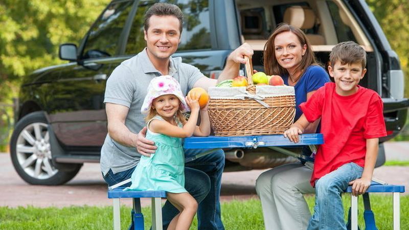 rodzina, wakacje, piknik, podróż