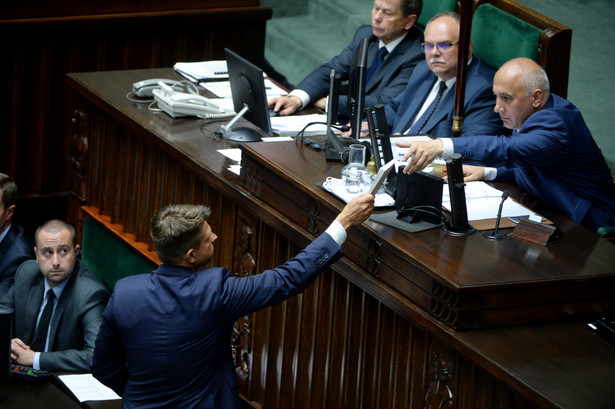 Lider Nowoczesnej Ryszard Petru w Sejmie