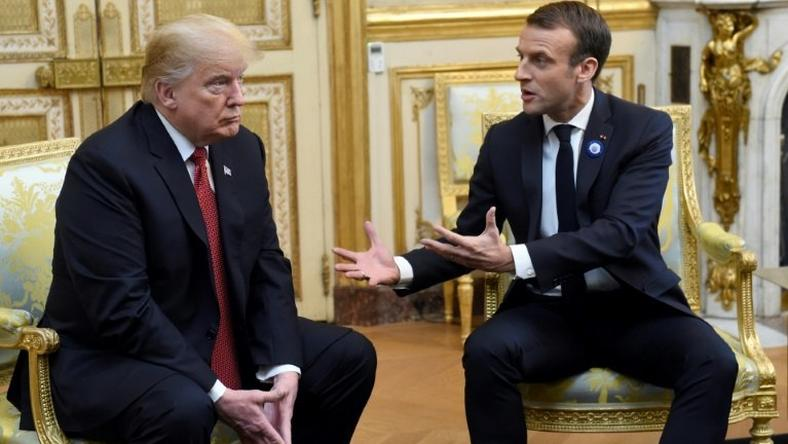 The body language of the US and French presidents was markedly less warm than during Trump's last visit to Paris in July 2017, underscoring a general cooling in relations which were further strained by a late-night tweet by Trump attacking Macron