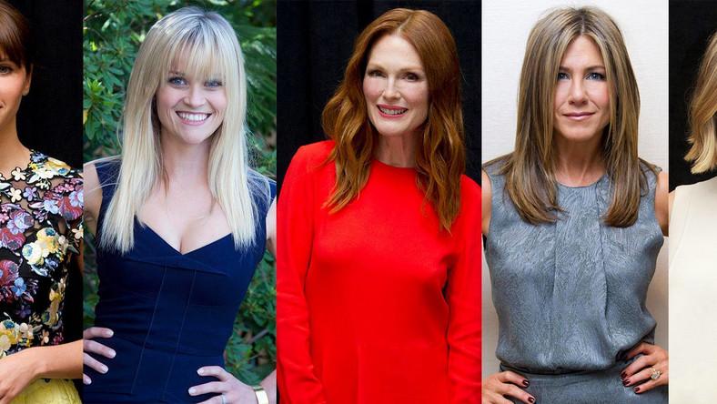 """Jennifer Aniston –""""Cake""""Felicity Jones –""""Teoria wszystkiego""""Julianne Moore –""""Still Alice""""Rosamund Pike –""""Zaginiona dziewczyna""""Reese Witherspoon –""""Dzika droga"""""""