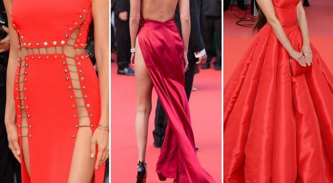 Crvene haljina na crvenom tepihu Kanskog festivala