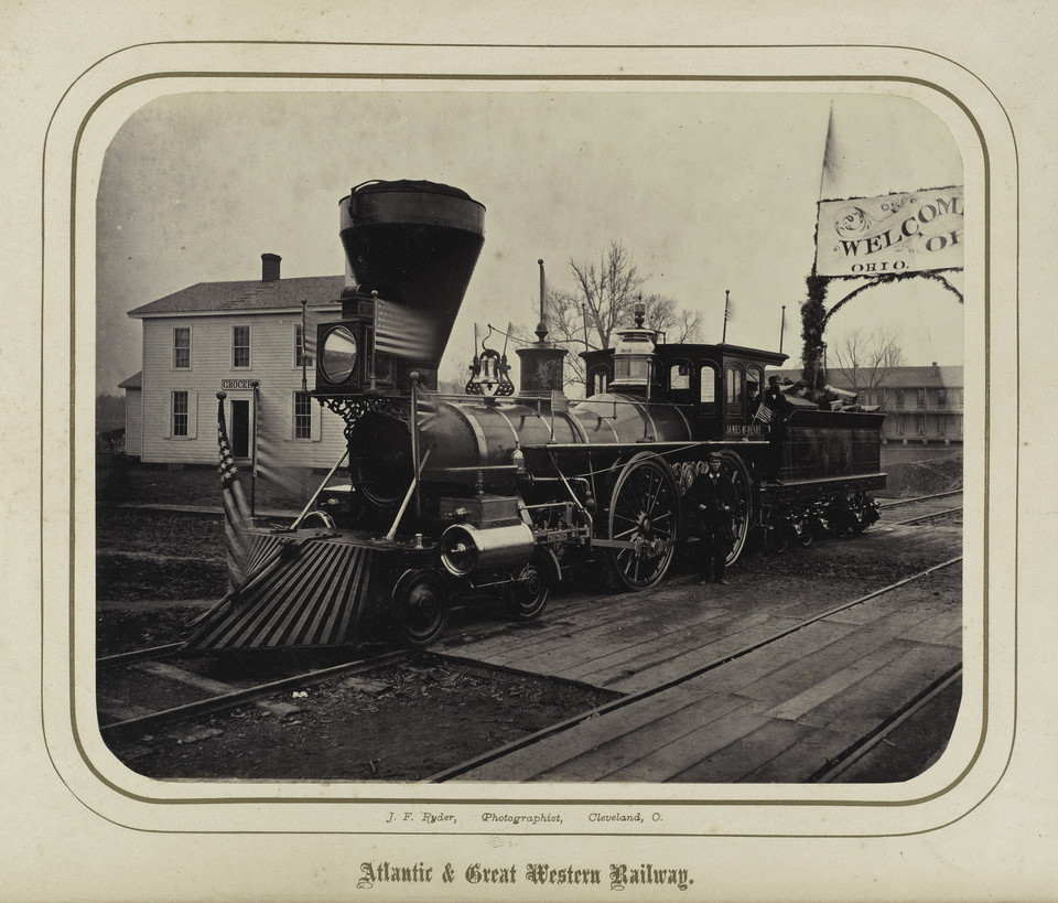 "James Fitzallen Ryder, ""Locomotive James McHenry"" (Atlantic and Great Western Railway, 1862)"