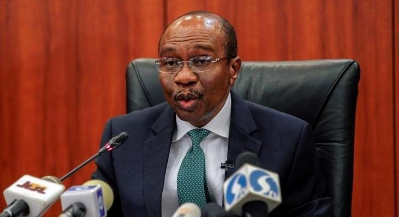 Nigeria's central bank Governor Godwin Emefiele speaks during the monthly Monetary Policy Committee meeting in Abuja, Nigeria.