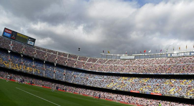 Capacity at the Camp Nou has been restricted so far this season Creator: LLUIS GENE