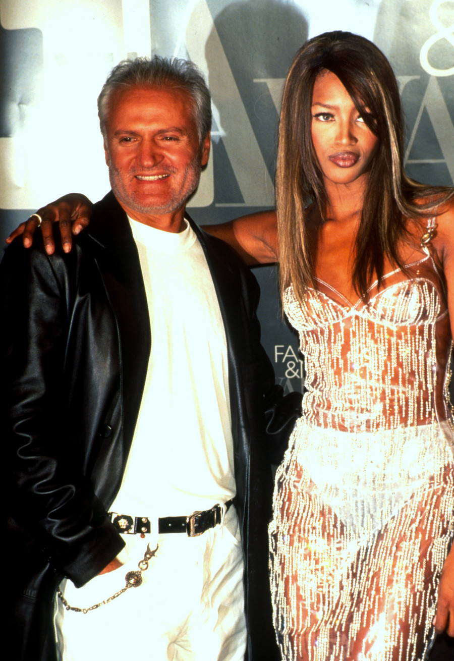 Naomi Campbell i Gianni Versace / Evan Agostini / GettyImages