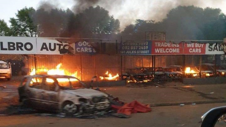Image result for Xenophobia: Ramaphosa condemns destruction of foreigner's interests by South Africans