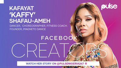 Meet Dr. Kafayat-Shafau-Ameh,  'Kaffy' Nigeria's dance queen  in the Facebook x Pulse  #FacebookCreators Campaign