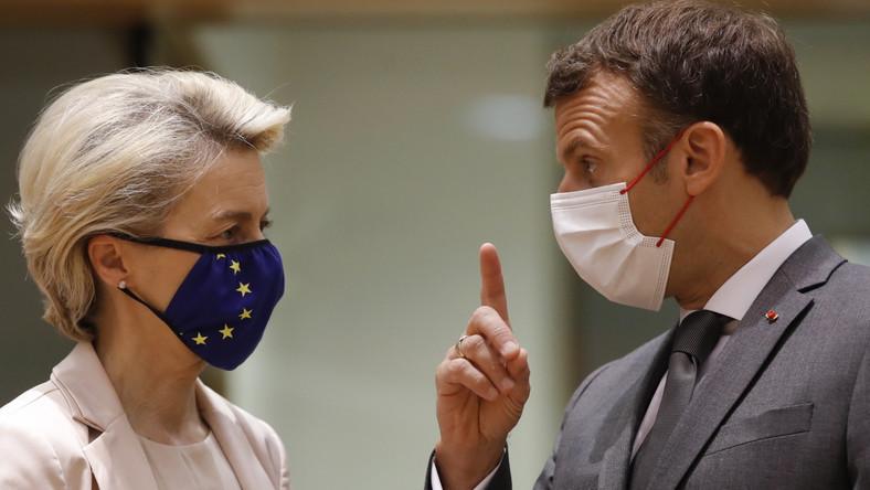 Ursula von der Leyen i Emmanuel Macron