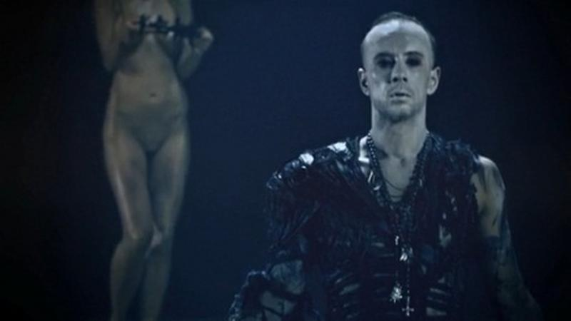 """Nergal na planie klipu """"Lucifer"""" (fot. materiały prasowe)"""