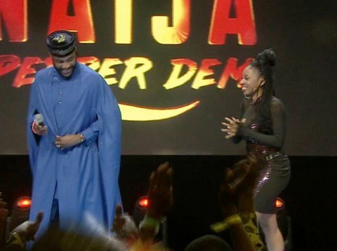 Avala also received cheers from the crowd after her eviction from the house [Twitter/BBNaija]